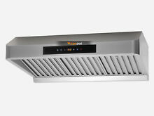 2 MOTORS Kitchen 30  Touch Timer Stainless Steel Under Cabinet Range Hood Vented