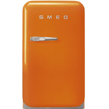 Smeg FAB5URO 50 s Retro Style Mini Refrigerator  Orange  Right Hand Hinge