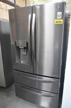 LG LMXS28626D 36  Black Stainless French 4 Door Refrigerator NOB  29345 HL