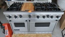VIKING PRO STYLE VGRC4856GDSS 48  GAS RANGE  6 BURNERS   GRIDDLE