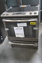 GE JS760ELES 30  Slate Slide In Electric Range NOB  29669 HL