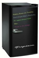Frigidaire Retro 3 2 Cu Ft Eraser Board Compact Fridge with shelving  Black