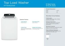 Frigidaire FFTW4120SW 4 1 Cu  Ft  High Efficiency Top Load Washer   White NEW