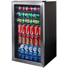 Mini Fridge Glass Door Refrigerator Beverage Cooler Soda 126 Can Drink Stianless