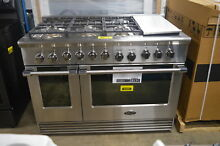 DCS RDV2486GDL 48  Stainless Dual Fuel  LP  6 Burner Range  28530 MAD