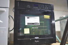 Whirlpool WOS51EC7AB 27  Black Single Electric Wall Oven NOB  17038 MAD