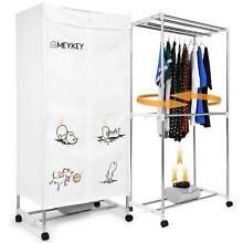MeyKey Portable Clothes Dryer Heater 1000W Electric Drying Rack  Anion  Folding