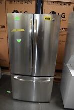 GE GWE19JSLSS 33  Stainless French Dr Counterdepth Refrigerator  30033 HRT