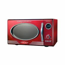 Nostalgia RMO400RED Retro 0 9 Cubic Foot Microwave Oven LED Display 12 Settings