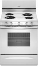 Whirlpool WFC340S0EW 4 8 Cu  Ft  Freestanding Electric Range