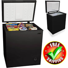 Chest Deep Freezer Upright  5 0 Cu Black Portable Compact Small Dorm Home