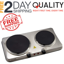 2 Portable Electric Cooktop Double Burner Hot Plate Cooking Stove Commercial New
