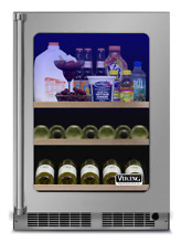 Viking DUAR151LSS Stainless Steel Clear Glass Door Beverage Center  15 Inch