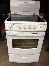4 burner electric Range white stove Ceramic Cooktop 24  Summit MSREX242W 220V