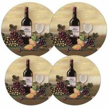 Reston Lloyd Electric Stove Burner Covers  Set of 4  Wine and Vines All Over