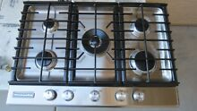 KITCHENAID ARCHITECT II SERIES  KFGS306VSS 30  GAS COOKTOP  5 BURNER