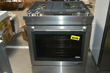 Jenn Air JDS1750EP 30  Stainless Slide In Dual Fuel Downdraft Range  30960 HRT