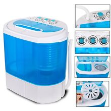Mini Compact Washing Machine Portable Spin Dryer Laundry Washer Twin Tub W Timer