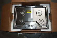 Whirlpool WCG55US0HS 30  Stainless Gas Cooktop NOB  31240 HRT