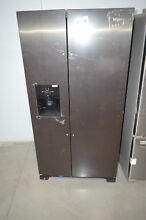 Whirlpool WRS325SDHV 36  BlackStainless Side By Side Refrigerator NOB  3144 HRT