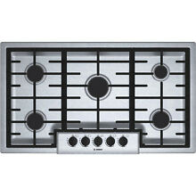 Bosch NGM5655UC 36  Stainless Steel Gas 5 Sealed Burner Cooktop NEW in BOX