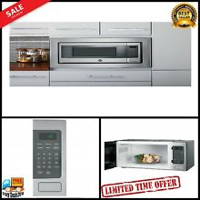 800 Watts Stainless Steel Countertop Microwave Oven w Sensor Cooking Controls