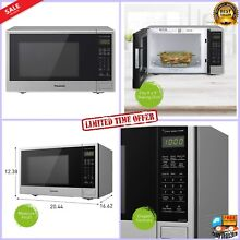 Panasonic Microwave Oven Stainless Steel Countertop Built In w Sensor  1100W