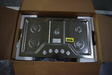 Whirlpool WCG51US6DS 36  Stainless Gas Cooktop NOB  32036 CLW