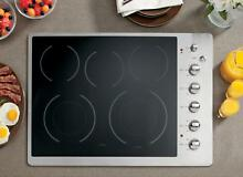GE CP350STSS Cafe 30  Stainless Steel Electric Smoothtop Cooktop LOCAL PICK UP