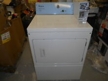 Whirlpool 7 4 cu  ft  240 Volt White Commercial Electric Vented Dryer