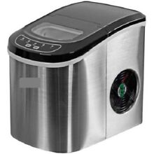 Portable Countertop Ice Maker Stainless Steel 27  Ice Day 9 in 7min sm lg size
