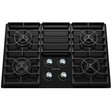 KitchenAid KGCC506RBL 30  Black Gas On Glass 4 Burner Cooktop NOB  32316 HRT