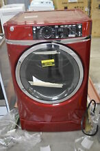 GE GFD49ERPKRR 28  Ruby Red Front Load  Electric Dryer NOB  32518 HRT