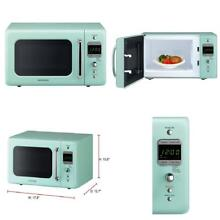 Daewoo KOR 7LREM Retro Countertop Microwave Oven 0 7 Cu  Ft  700W   Mint Green