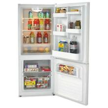 Bottom Mounted Frost Free Freezer Refrigerator  10 2 Cubic Feet  White