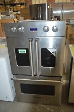 Viking VDOF730SS 30  Stainless Double French Door Electric Wall Oven  32681 HRT