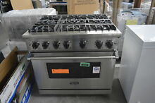 Viking VGR5366BSS 36  Stainless Pro Style Gas Range Convection NOB  32683 HRT