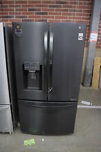 LG LFXS28566M 36  Matte Black Stainless French Door Refrigerator NOB  32719 HRT