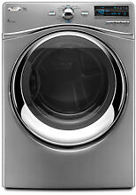 Whirlpool WGD94HEXL 27  Lunar Silver Stainless Front Load Gas Dryer NIB  8608 HL