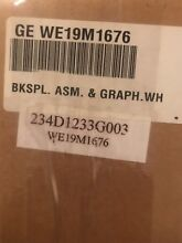GE Dryer Control Panel Assembly WE19M1676