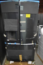 GE GFD28GBLTS 36  Black Stainless French Door Refrigerator NOB  33099 HRT