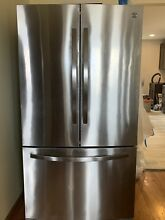 Stainless steel kitchen appliances  Refrigerator  Oven  Hood Range