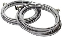 Kelaro 10 Foot Stainless Steel Washing Machine Hoses 2 Pack Burst Proof  Lead