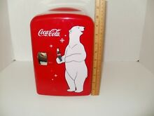 Coca Cola Red with Polar Bear Design Mini Portable Refrigerator