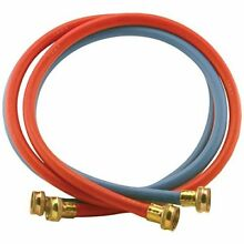 Certified Appliance Accessories 2 pk Red Blue EPDM Washing Machine Hoses  4ft