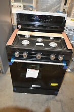 KitchenAid KFGG500EBL 30  Black Freestanding Gas Range NOB  19301 CLW
