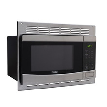 RecPro RV Stainless Steel Microwave 1 0 cu ft  With Trim Package EM925AQR S