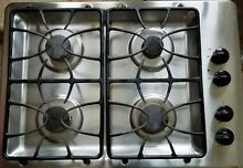 GE 30  Stainless Gas Cooktop JGP330SEK2SS   4 burner   Good Condition