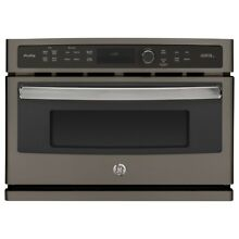 New GE Profile Advantium 27  Slate Finish Electric Single Wall Oven PSB9100EFES