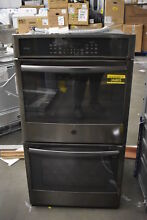 GE PK7500BLTS 27  Black Stainless Double Electric Wall Oven NOB  36805 HRT
